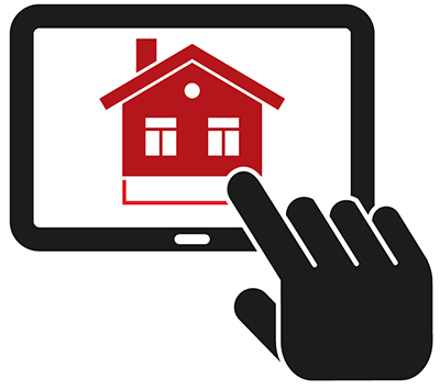 Icon of a person using a tablet to schedule an inspection with our home inspectors