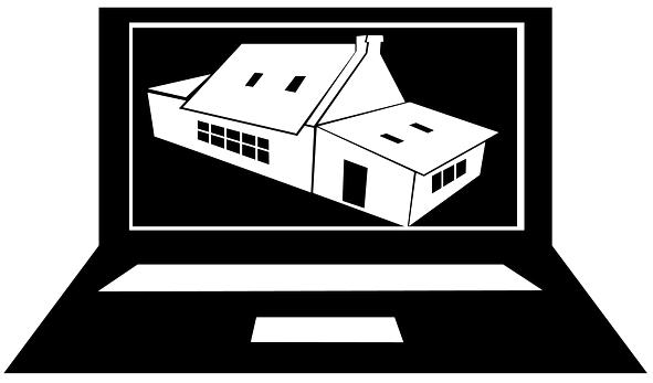 Icon of a home inspection report one a laptop